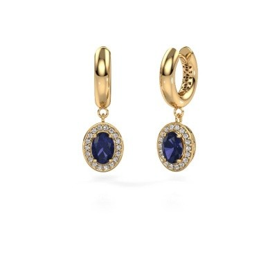 Picture of Drop earrings Annett 585 gold sapphire 7x5 mm