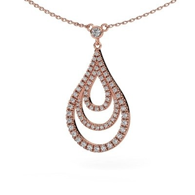 Picture of Pendant Delpha 375 rose gold zirconia 1.4 mm