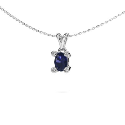 Picture of Necklace Cornelia Oval 950 platinum sapphire 7x5 mm
