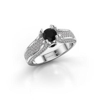 Bild von Verlobungsring Jeanne 2 585 Weissgold Schwarz Diamant 1.138 crt