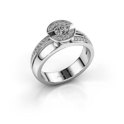 Foto van Ring Jeanet 2 950 platina diamant 0.40 crt
