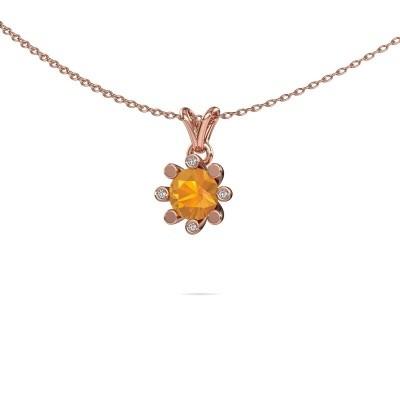 Picture of Pendant Carola 2 585 rose gold citrin 6 mm