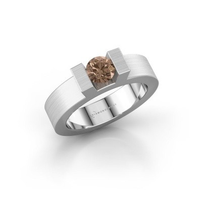 Picture of Ring Leena 1 585 white gold brown diamond 0.50 crt
