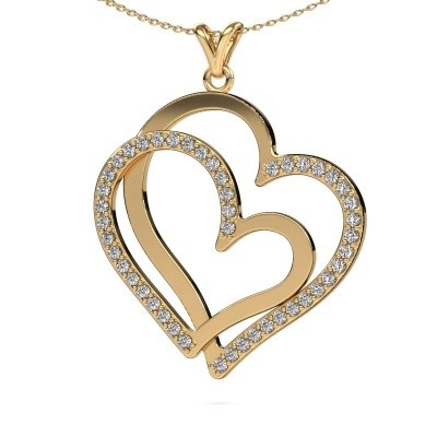 Picture of Necklace Cathy 585 gold diamond 1.15 crt