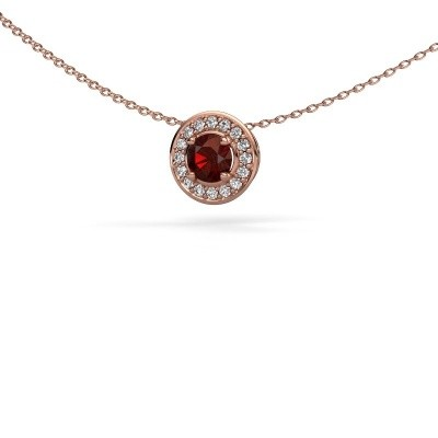 Picture of Pendant Agaat 375 rose gold garnet 5 mm