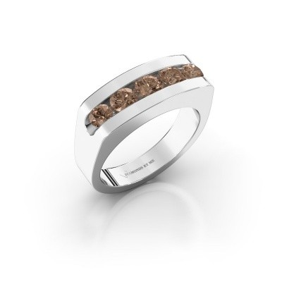 Foto van Heren ring Richard 925 zilver bruine diamant 1.110 crt