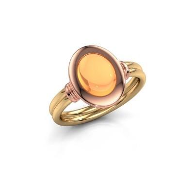 Foto van Ring Brittni 585 goud citrien 9x7 mm