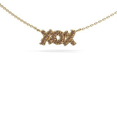Bild von Kette XoX 585 Gold Braun Diamant 0.285 crt