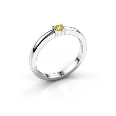 Foto van Promise ring Yasmin 1 925 zilver gele saffier 2.7 mm