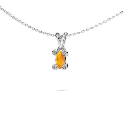 Picture of Necklace Cornelia Marquis 950 platinum citrin 7x3 mm