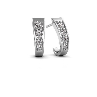 Picture of Earrings Glady 925 silver zirconia 3 mm