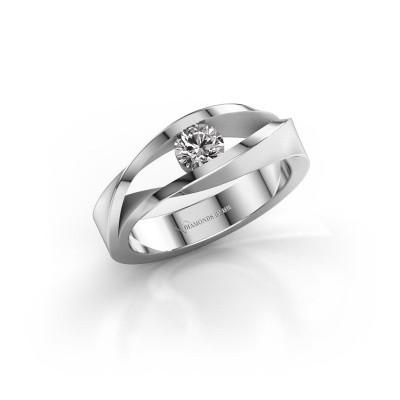 Foto van Ring Ruthanne 375 witgoud diamant 0.30 crt