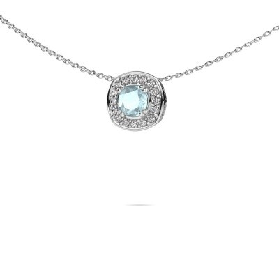 Picture of Necklace Carolina 375 white gold aquamarine 5 mm
