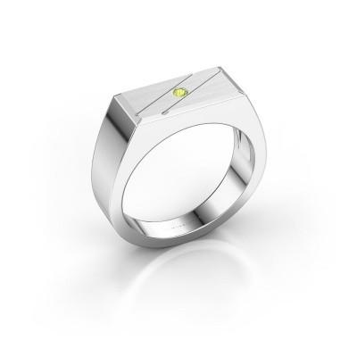 Foto van Heren ring Dree 3 925 zilver peridoot 2 mm