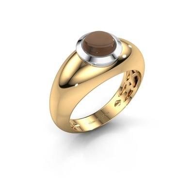 Foto van Ring Sharika 585 goud rookkwarts 6 mm