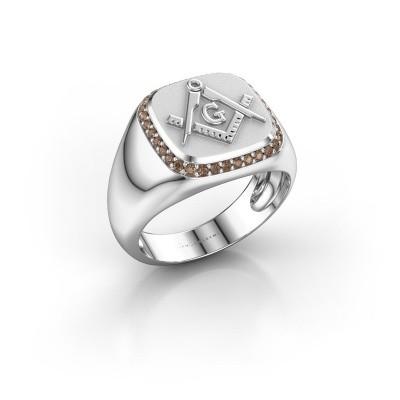 Foto van Heren ring Johan 375 witgoud bruine diamant 0.255 crt
