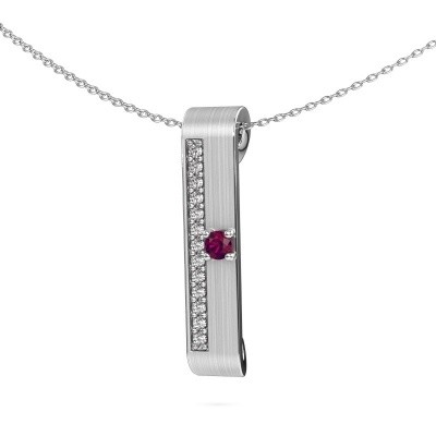 Picture of Necklace Vicki 950 platinum rhodolite 3 mm