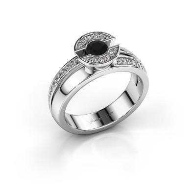 Bild von Ring Jeanet 2 585 Weissgold Schwarz Diamant 0.450 crt