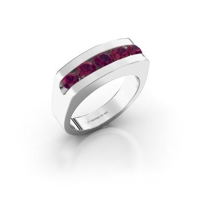 Foto van Heren ring Richard 925 zilver rhodoliet 4 mm