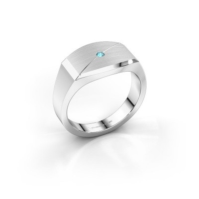 Foto van Heren ring Joe 5 925 zilver blauw topaas 2 mm