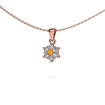 Foto van Ketting Chantal 585 rosé goud citrien 2.4 mm
