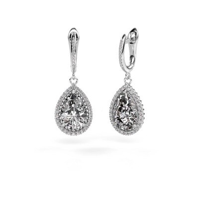 Picture of Drop earrings Hana 2 585 white gold diamond 6.465 crt