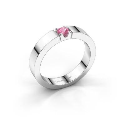 Foto van Belofte ring Dana 1 950 platina roze saffier 3.7 mm