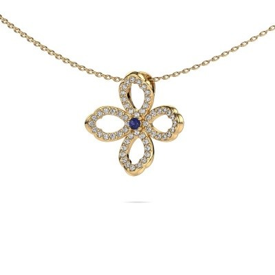 Picture of Necklace Chelsea 585 gold sapphire 2 mm