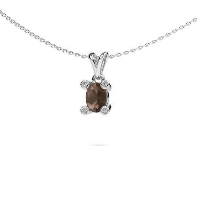 Picture of Necklace Cornelia Oval 950 platinum smokey quartz 7x5 mm