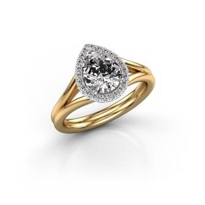 Foto van Verlovingsring Elenore 585 goud diamant 1.097 crt