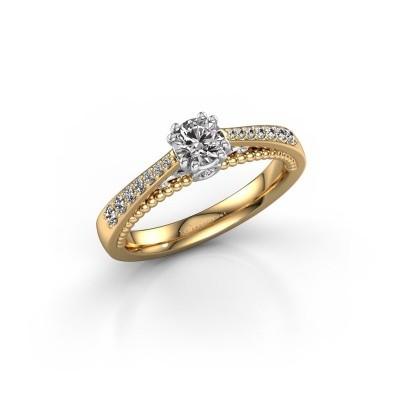 Foto van Verlovingsring Rozella 585 goud diamant 0.518 crt