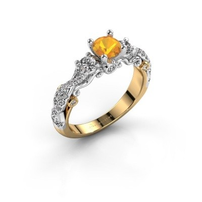Foto van Verlovingsring Kourtney 585 goud citrien 5 mm