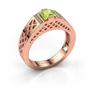 Foto van Heren ring Jonathan 585 rosé goud peridoot 5 mm