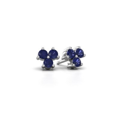Picture of Stud earrings Shirlee 925 silver sapphire 3 mm