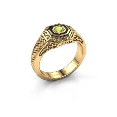 Foto van Heren ring Dion 585 goud peridoot 4 mm
