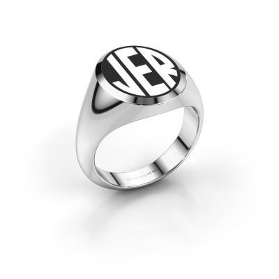 Foto van Monogram ring Paul emaille 925 zilver