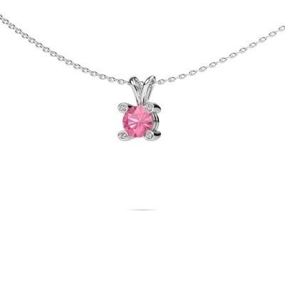 Picture of Pendant Fleur 950 platinum pink sapphire 5 mm