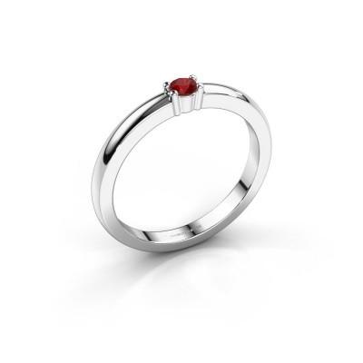 Foto van Promise ring Yasmin 1 925 zilver robijn 2.7 mm