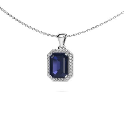Picture of Necklace Dodie 585 white gold sapphire 9x7 mm