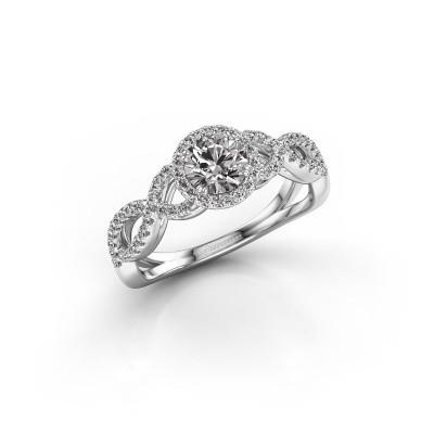 Foto van Verlovingsring Casandra 585 witgoud diamant 0.82 crt