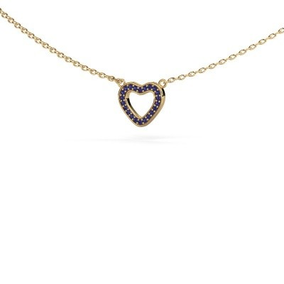Picture of Pendant Heart 4 585 gold sapphire 0.8 mm