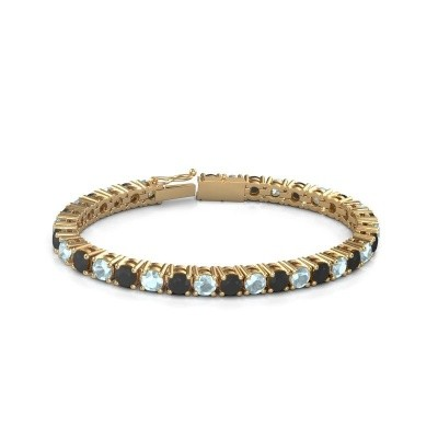 Foto van Tennisarmband Ming 375 goud zwarte diamant 18.70 crt