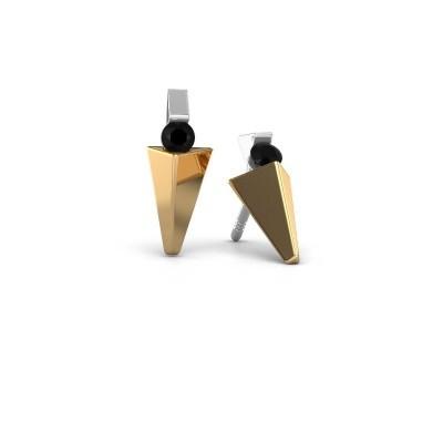Bild von Ohrringe Corina 585 Gold Schwarz Diamant 0.24 crt