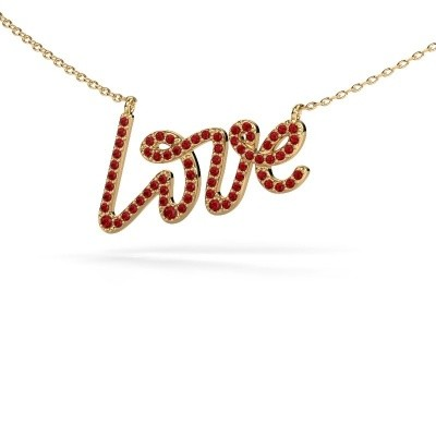 Picture of Pendant Love 585 gold ruby 1 mm