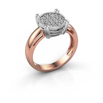 Ring Dina 585 rosé goud diamant 0.342 crt