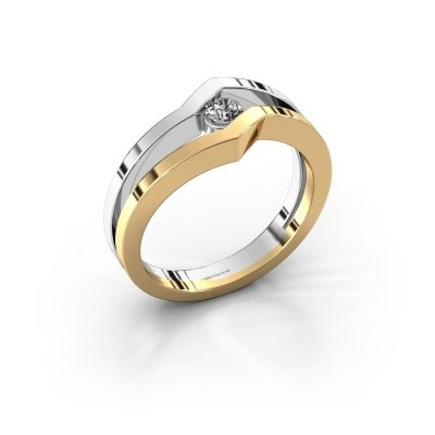 Ring Elize 585 goud diamant 0.15 crt