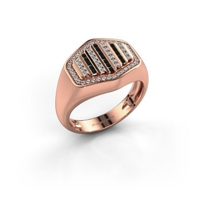 Foto van Heren ring Beau 375 rosé goud zirkonia 1 mm
