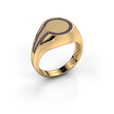Foto van Heren ring Gijs 585 goud saffier 1 mm
