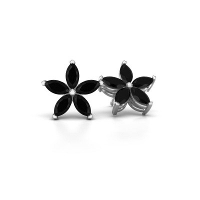 Picture of Stud earrings Sylvana 925 silver black diamond 1.68 crt
