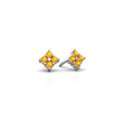 Picture of Stud earrings Maryetta 925 silver citrin 2 mm